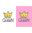 nap queen and crown inspirational quote - design vector image
