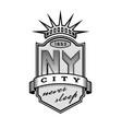 new york city emblem vintage style vector image vector image