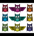 Ornamental ethnic indian style owl vector image