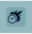 Pale blue burning time icon vector image vector image