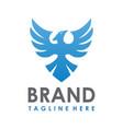 phoenix guard logo creative concept vector image vector image