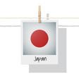 photo japan flag on white background vector image