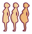 pregnant period icon cartoon style vector image vector image