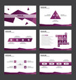 Purple polygon presentation templates Infographic vector image vector image