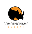 rhino logo 2 vector image vector image