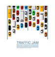 road cars transport traffic jam background vector image