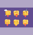 sandwiches set food characters with funny faces vector image vector image