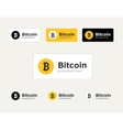 set of the Bitcoin accepted stickers vector image vector image