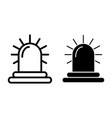 siren line and glyph icon alarm vector image