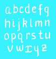 Sketch ink letters in vintage style vector image