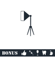 Studio lighting icon flat vector image vector image