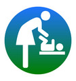 symbol for women and baby baby changing vector image vector image