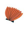 tropical orange shell marine underwater seashell vector image vector image