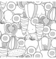 vegetables black and white seamless vector image