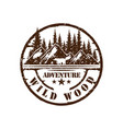 vintage mountain outdoor adventure badge vector image