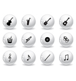 Web buttons musical icons vector image vector image