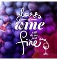Wine list typographics Hand drawn vector image vector image