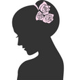 Beauty icon with a rose vector image
