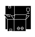 boxes icon black sign on vector image