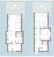 Apartment Floor Plan Sketch vector image