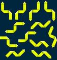 Twelve yellow arrows vector image