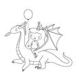 Birthday Girl on Dragon vector image