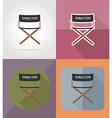 cinema flat icons 02 vector image