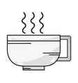 line tasty espresso coffe cup vector image