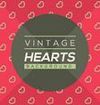 Vintage Hearts Background vector image