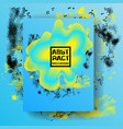 abstract blue and yellow background dynamic fluid vector image