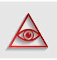 All seeing eye pyramid symbol vector image vector image