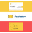 beautiful message logo and business card vertical vector image