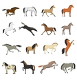 Best Horse Breeds Pictures Icons Set vector image vector image