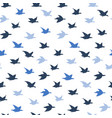blue crane birds seamless pattern with birds vector image