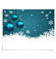 Christmas New Year s card Three green shiny ball vector image vector image