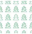 christmas seamless pattern - xmas trees vector image vector image