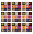 collection of swatches memphis patterns fashion vector image vector image