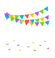 confetti background birthday concept vector image vector image