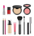cosmetics for women pictures of various vector image vector image
