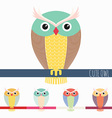 Cute colorful owl