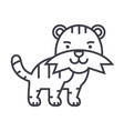 cute tiger line icon sign on vector image