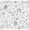 depression doodles pattern heartbreak pattern sad vector image