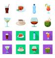 design of drink and bar logo set of drink vector image vector image