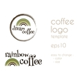 Dream Coffee Vintage Labels logo template vector image vector image