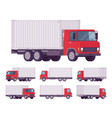 euro truck with metal container vector image vector image