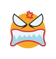 face angry sphere expression cartoon icon vector image vector image