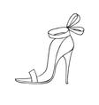 Female shoe icon vector image