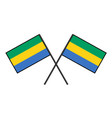 flag of gabon stylization of national banner vector image