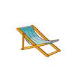 flat beach lounger icon vector image vector image