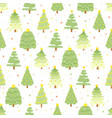 flat style green christmas tree on colorful vector image vector image